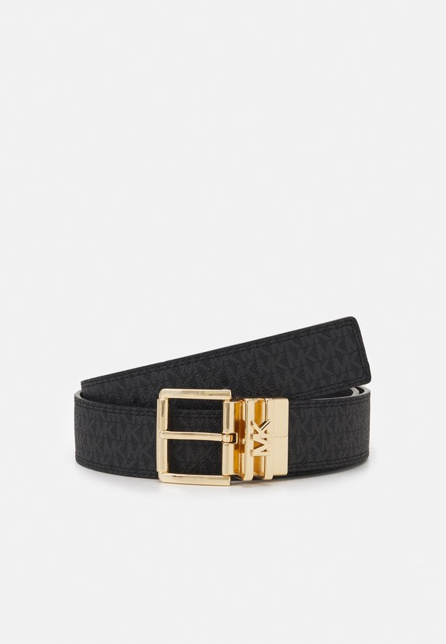 LOGO REVERSIBLE BELT - Cintura - black/silver