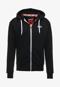 Superdry - LABEL ZIPHOOD - Mikina na zip - eclipse navy - 5