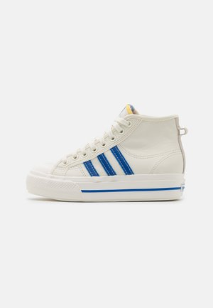 NIZZA PLATFORM MID  - Korkeavartiset tennarit - offwhite/blue/chalk solid grey