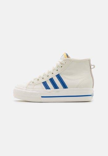 NIZZA PLATFORM MID  - Zapatillas altas - offwhite/blue/chalk solid grey