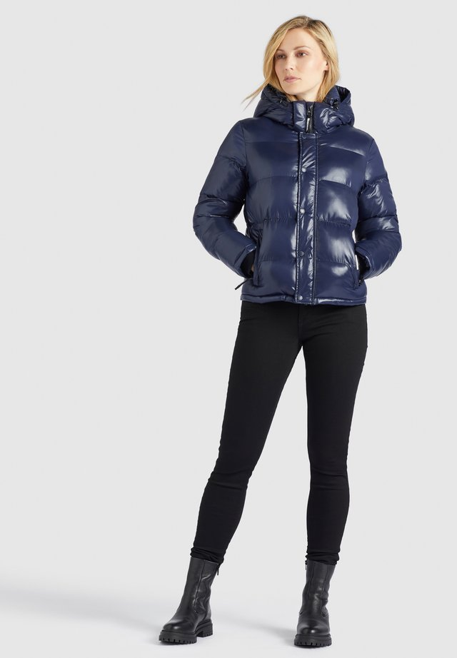 CAMILLE - Giacca invernale - dunkelblau glänzend