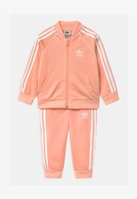 adidas Originals - SLICE TREFOIL CREW ADICOLOR ORIGINALS PULLOVER - Träningsjacka - glow pink/white - 0