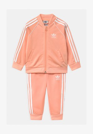 SET UNISEX - Trainingspak - glow pink/white