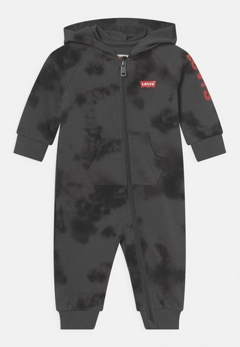 HOODED COVERALL - Tuta jumpsuit - magnet gray