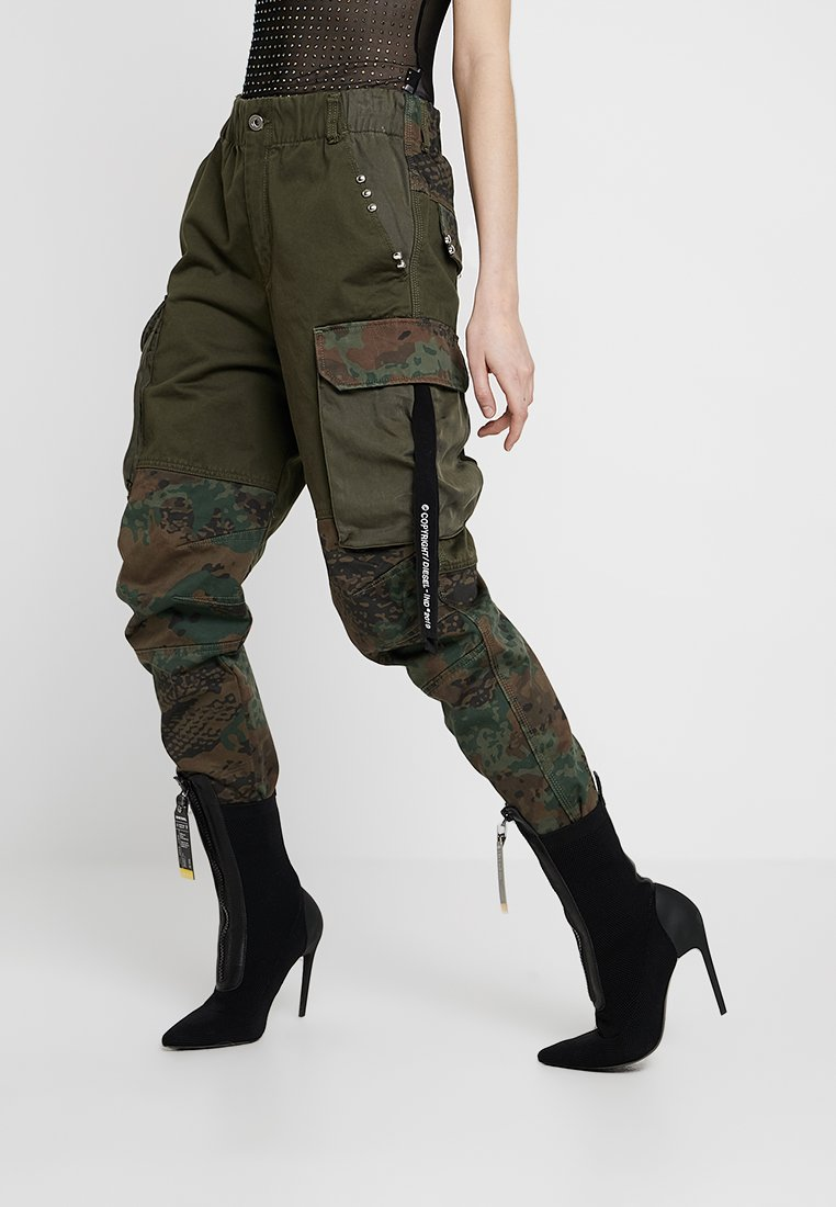 Diesel - THENA TROUSERS - Trousers - olive