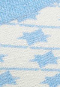 Glamorous - HOUNDSTOOTH KNIT SKIRT - Mini skirt - blue cream - 2