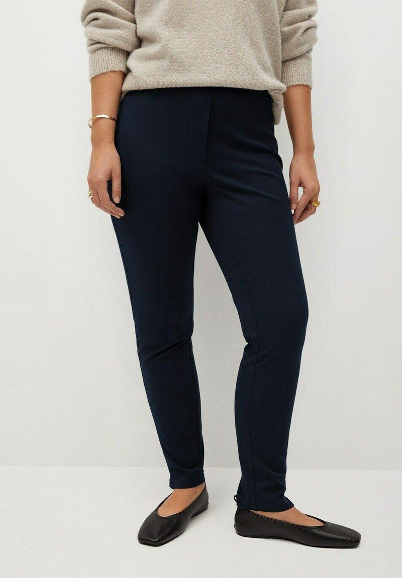 Violeta by Mango - ELASTIC - Trousers - dunkles marineblau