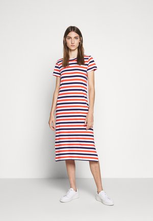 MIDI DRESS IN STRIPE - Jersey dress - cherry/dosido/navy/red