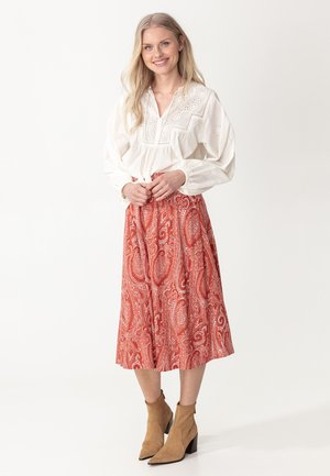 SKIRT LISA - A-lijn rok - red
