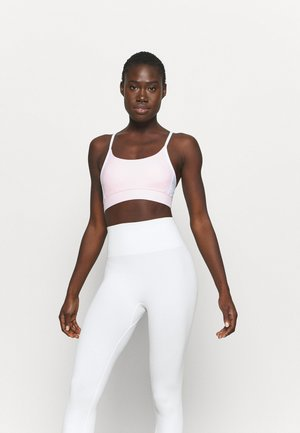 COLOUR BLOCK CROP - Light support sports bra - pink sherbet