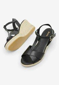 Bianco - BIADENA - Wedge sandals - black - 3