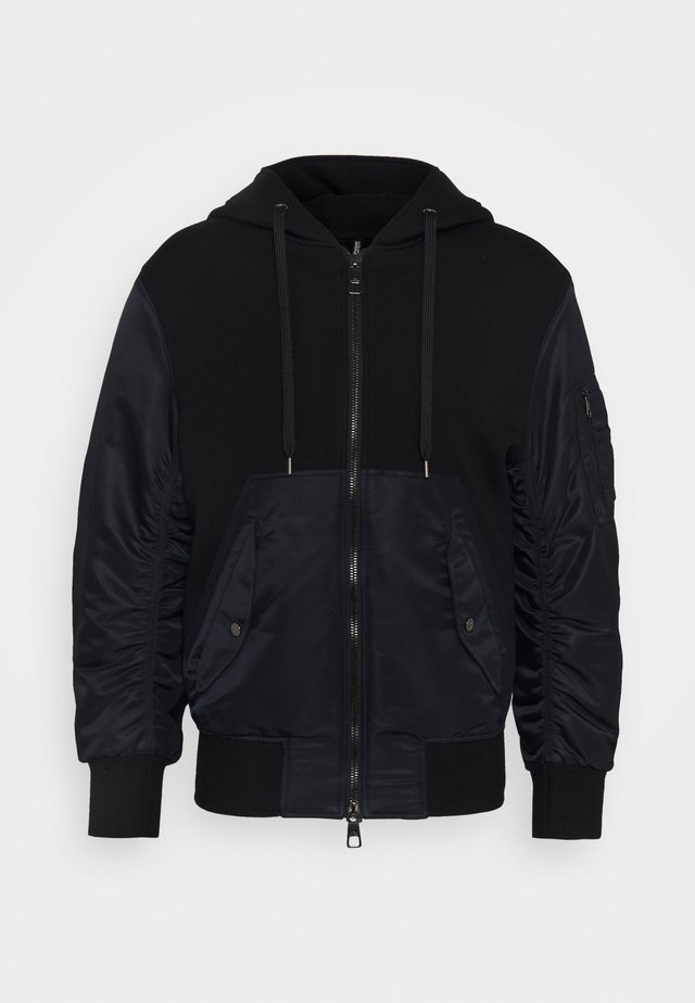 TRAVEL ZIP-UP HOODI - Collegetakki - black/black