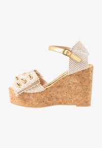 RAS - High heeled sandals - fuffy sand/kiddy gold - 1