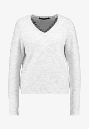 VMIVA - Pullover - light grey melange/w. snow melange