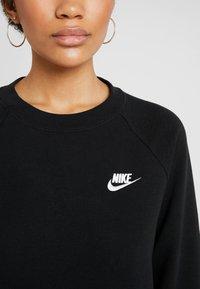 Nike Sportswear - W NSW ESSNTL CREW FLC - Sudadera - black/white - 4