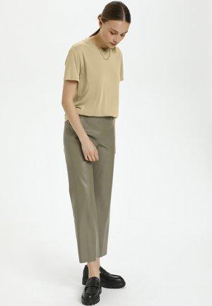 SLCOLUMBINE - Basic T-shirt - gray green