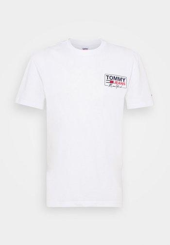 SCRIPT BOX BACK LOGO TEE UNISEX - T-shirt med print - white