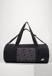 Nike Sportswear - HERITAGE DUFFLE  - Sports bag - black/black/white - 0