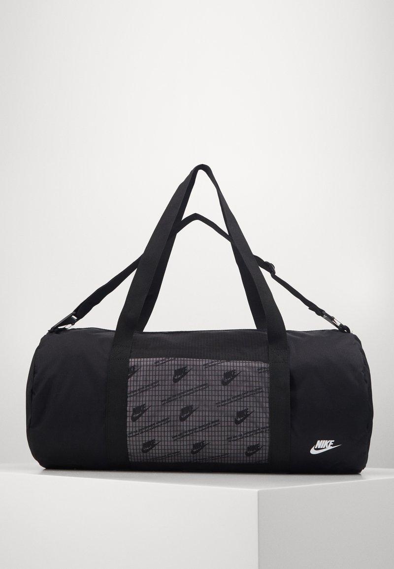 Nike Sportswear - HERITAGE DUFFLE  - Sports bag - black/black/white