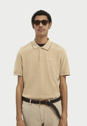 Polo shirt - sand melange