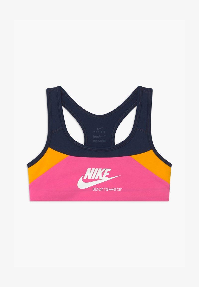 Nike Sportswear - VENEER - Bustier - obsidian/pinksicle/university gold/white