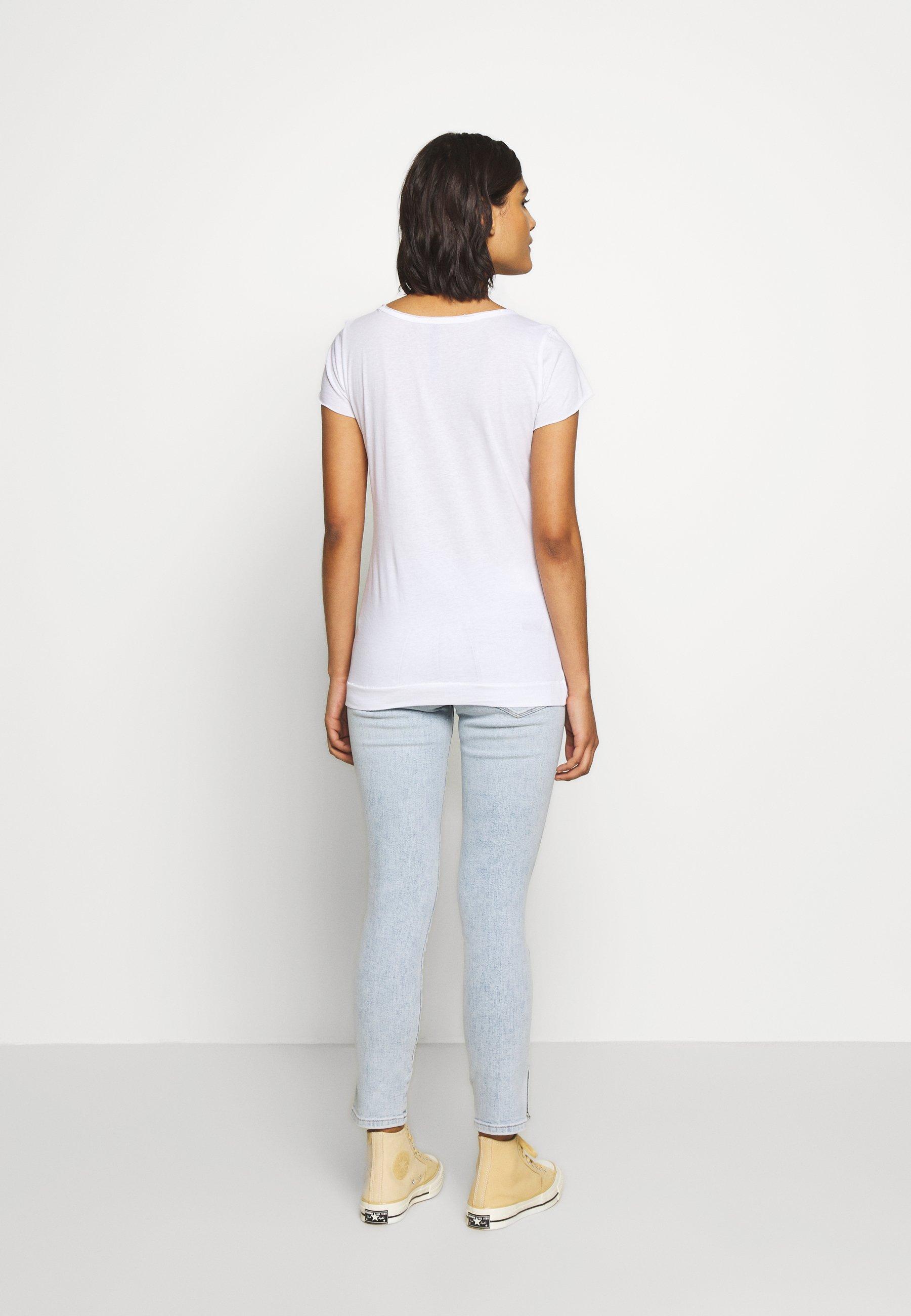 10DAYS THE TEE - Camiseta estampada - white eoRA4