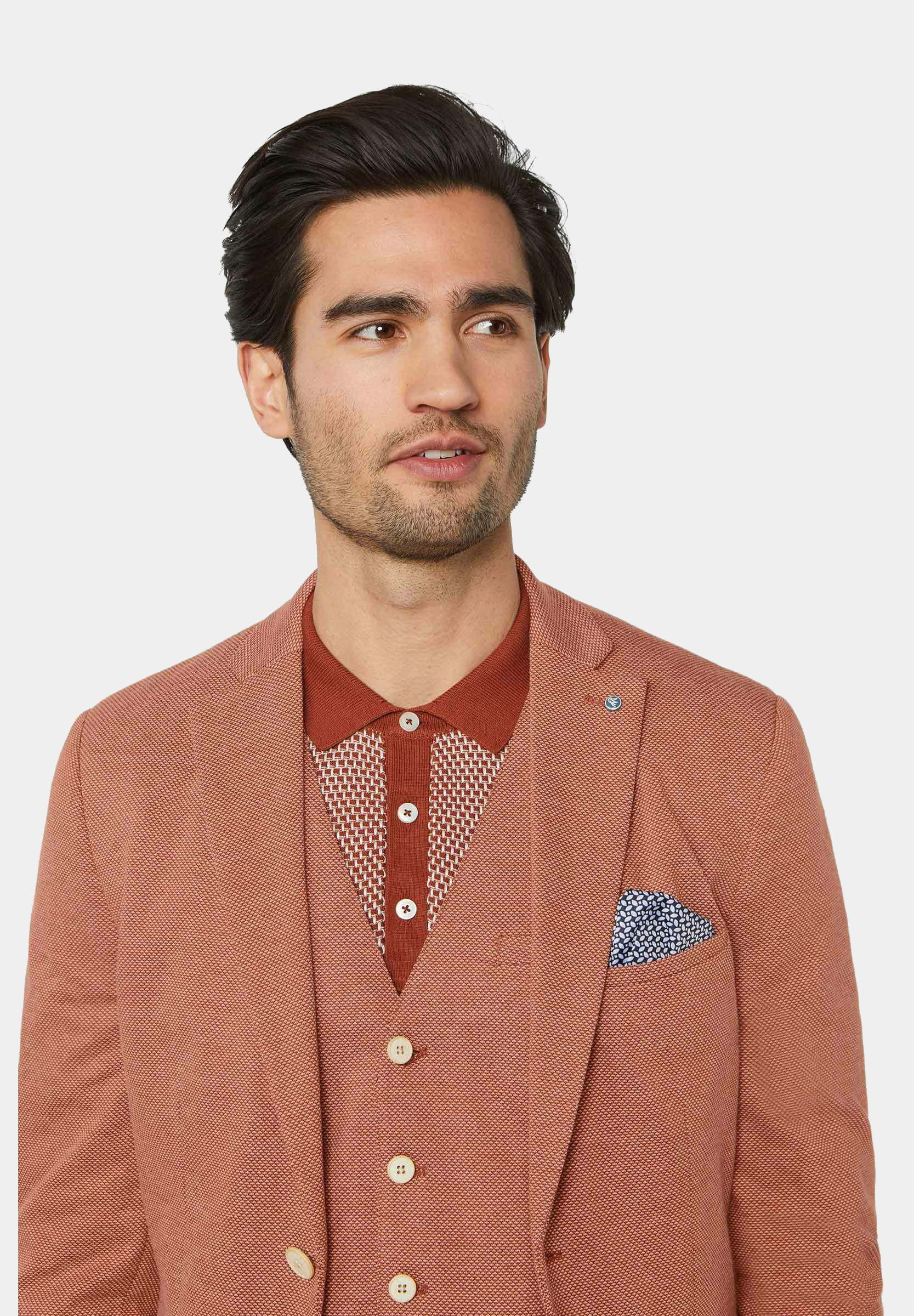 WE Fashion WE FASHION HERREN-SKINNY-FIT-SAKKO MIT MUSTER - Sakko - rust brown/braun meliert - Herrenwinterkleidung N92eH
