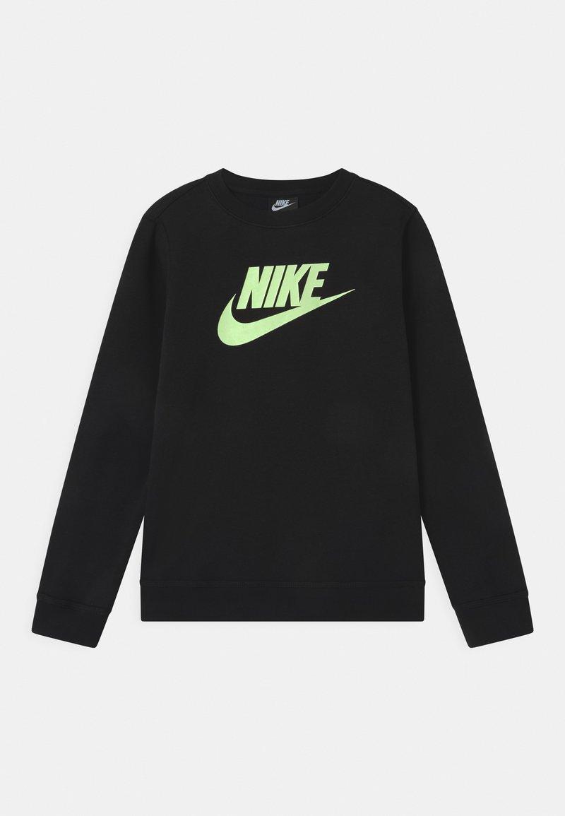 Nike Sportswear - CLUB CREW - Sudadera - black/barely volt