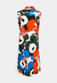 Marimekko - TAIVAAS UNIKKO DRESS - Denim dress - dark green/red/blue - 1