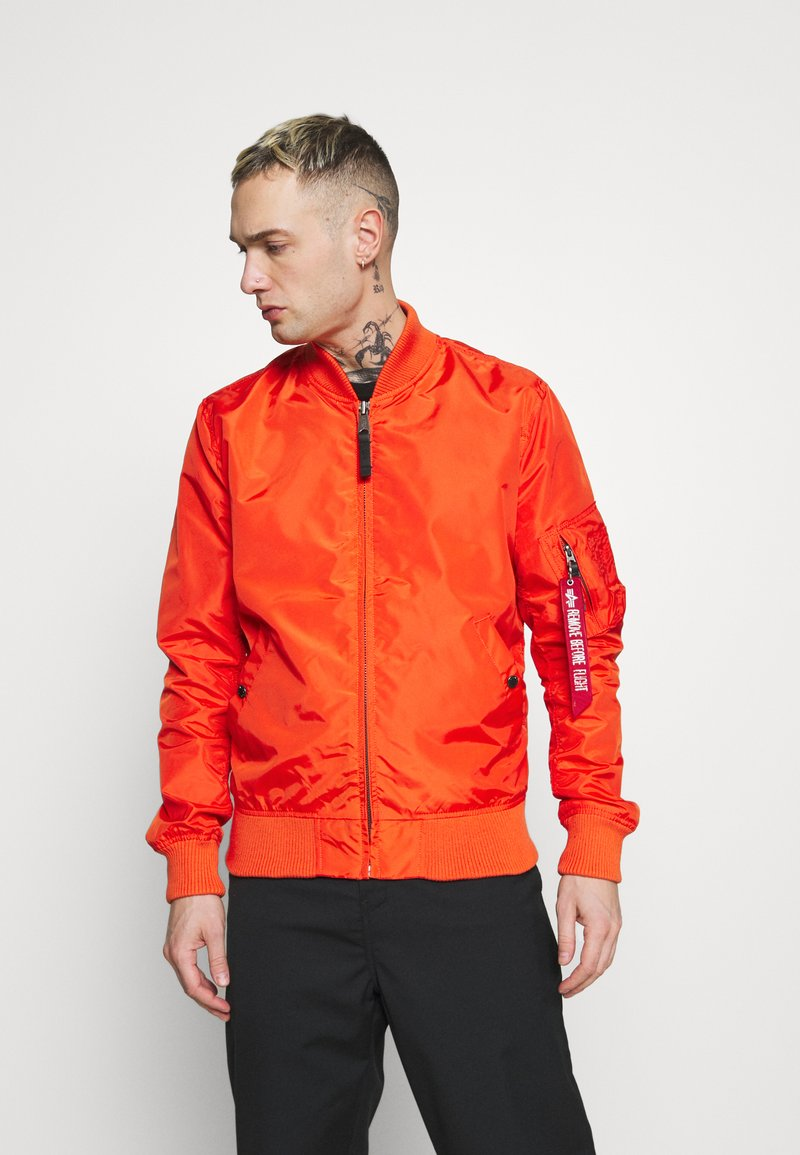 Alpha Industries - Bomber Jacket - atomic red
