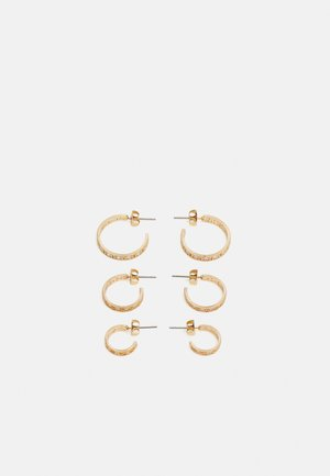 PCDIAMANTOS EARRINGS 3 PACK - Øredobber - gold-coloured