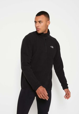 MEN'S 100 GLACIER 1/4 ZIP - Fleecepaita - black