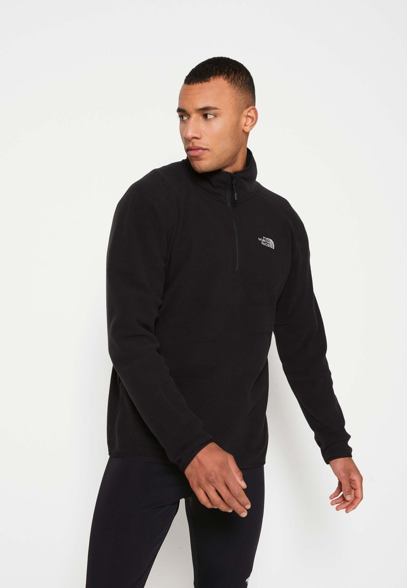 The North Face - MEN'S 100 GLACIER 1/4 ZIP - Fleecetröja - black
