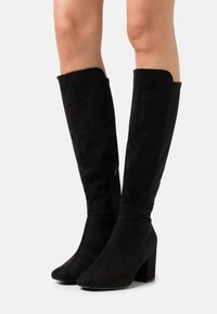 New Look Wide Fit - WIDE FIT CLARIFY STRETCH BACK BLOCK - Boots - black - 0