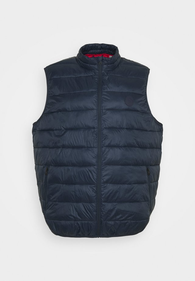 JJEMAGIC BODYWARMER COLLAR  - Smanicato - navy blazer