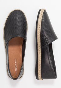 Anna Field - LEATHER - Espadrilles - black - 3