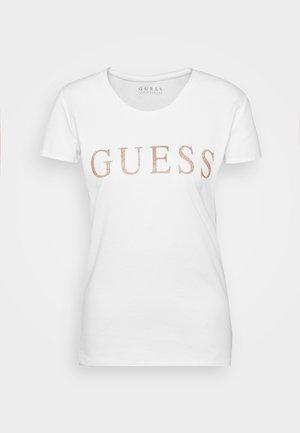 T-shirts med print - true white