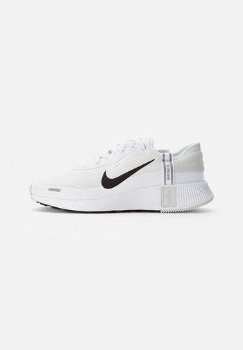 NIKE REPOSTO - Trainers - white/black-platinum tint-mtlc silver-gum light brown