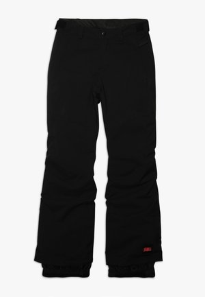 CHARM REGULAR PANTS - Talvihousut - black out