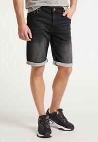 Petrol Industries - SHORTS - Denim shorts - black stone - 2