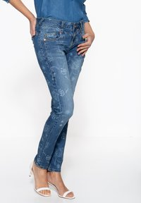 Amor, Trust & Truth - MIT FLORALEM MUSTER - Slim fit jeans - blau - 2