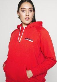 Lee Plus - HOODIE - Bluza z kapturem - red - 3