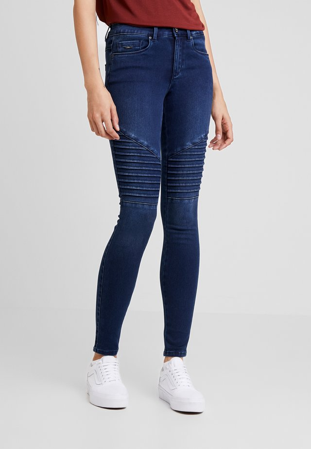 ROYAL BIKER - Jeans Skinny Fit - dark blue denim