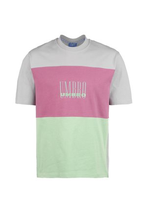 Camiseta estampada - ash grey / aqua mint / cassis