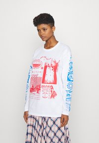 NEW girl ORDER - RAVE FLYER LONG SLEEVE TOP - Bluzka z długim rękawem - white - 0