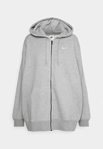 Sweatjakke - grey heather/matte silver/white