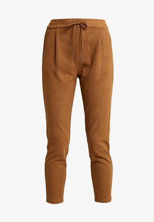 VMEVA LOOSE STRING SOFT - Pantaloni - tobacco brown