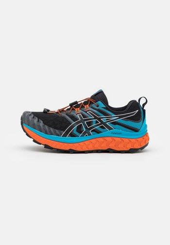 TRABUCO MAX - Trail running shoes - black/digital aqua