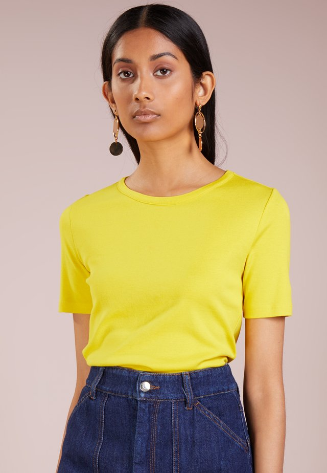CREWNECK ELBOW SLEEVE - T-shirt basic - warm canary