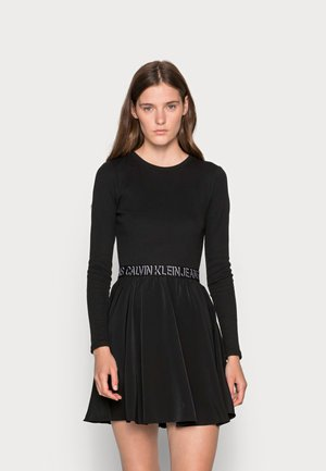 LOGO DRESS - Denní šaty - black